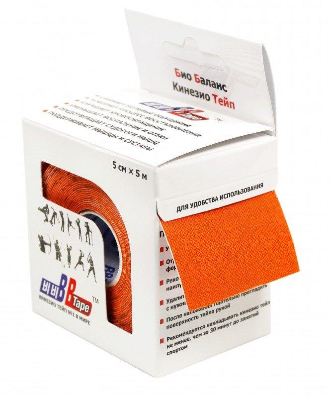 Кинезио тейп BBTape™ 5см × 5м / Оранжевый