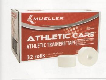 Код 130888 Тейп спортивный Аthletic Trainers, 100% хлопок , ZnO (3,8см х 13,7м), белый