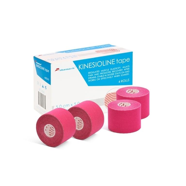 """Код 18033 Тейп KINESIOLINE """"Pharmacels""""  5,0 см.х 5 м., розовый"""