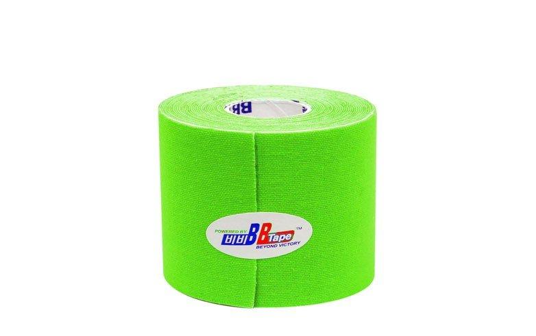 Флуоресцентные кинезио тейпы BBTape 5см*5м  FLURO / флуоресцентный лайм