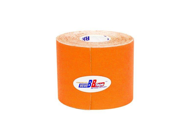 Флуоресцентные кинезио тейпы BBTape 5см*5м FLURO / флуоресцентный оранжевый