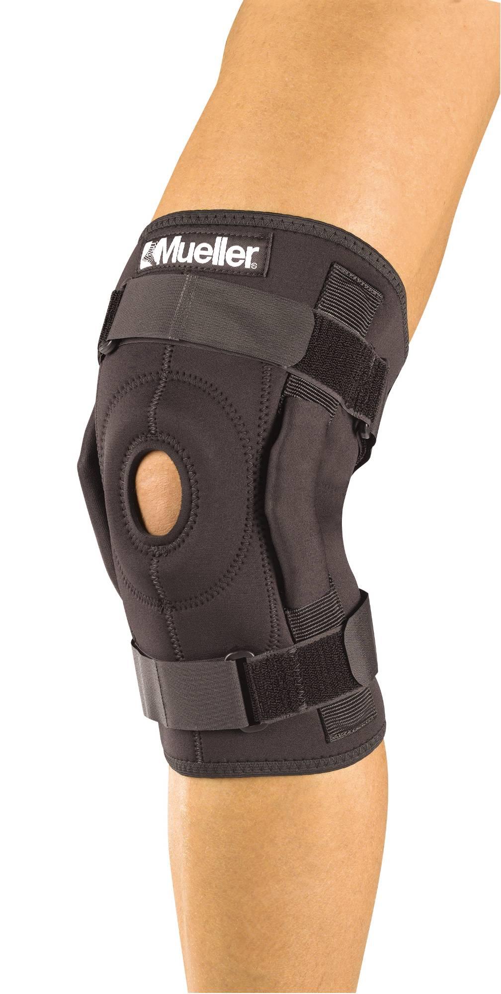 Код 3333 Шарнирный бандаж на колено, 1 шт., черный, REG, LG, XL