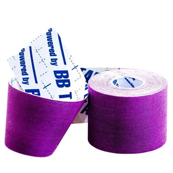 Кинезио тейп BBTap ICE 5см × 5м / Искусственный шёлк (вискоза) / Фиолетовый