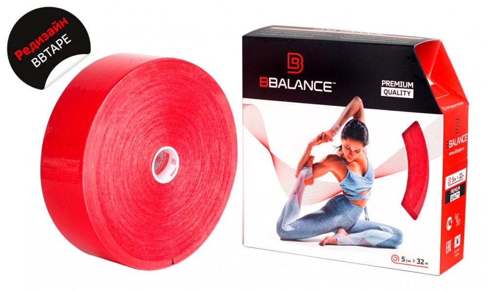 Кинезио тейп BBTape™ 5см × 32м / Красный