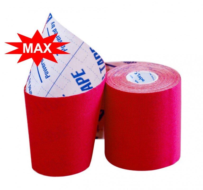 Кинезио тейп BBTape MAX с усиленным клеем 7,5см × 5м / Красный