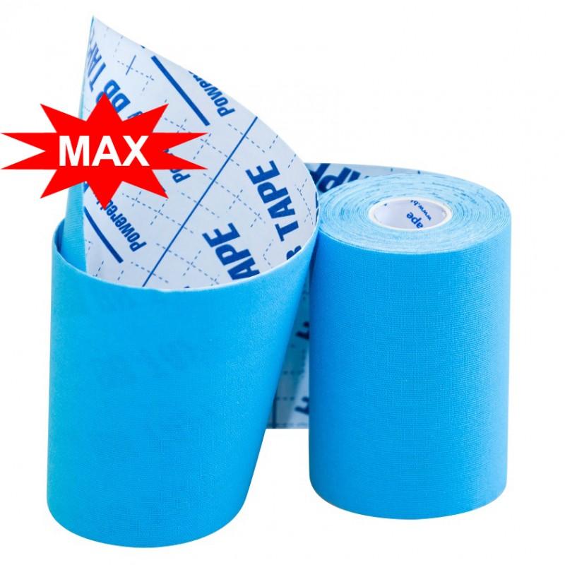 Кинезио тейп BBTape MAX с усиленным клеем 10см × 5м / Голубой