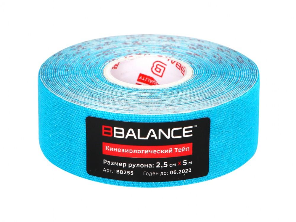 Кинезио тейп BBTape™ 2,5см × 5м / Голубой
