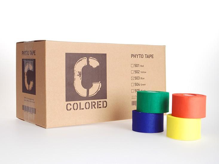 "Код 503 Тейп цветной ""PhytoTape"" 3,8 см.х13,7 м. / 32 рул., голубой"