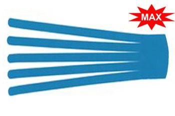 Кинезио тейп преднарезанный BB EDEMA STRIP МАХ с усиленным клеем 10 cм x 25 см / Голубой