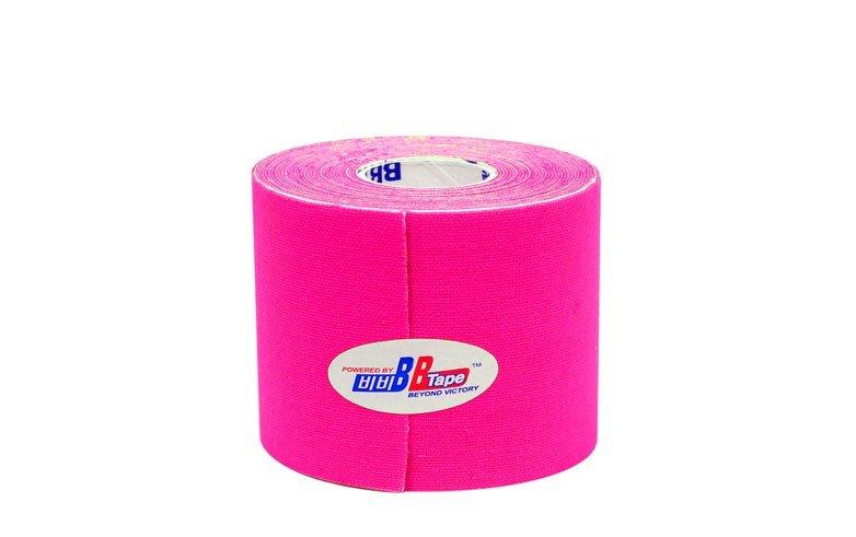 Флуоресцентные кинезио тейпы BBTape 5см*5м FLURO / флуоресцентный розовый