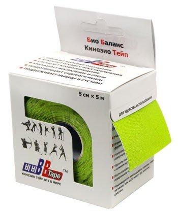 Кинезио тейп BBTape™ 5см × 5м / Лайм