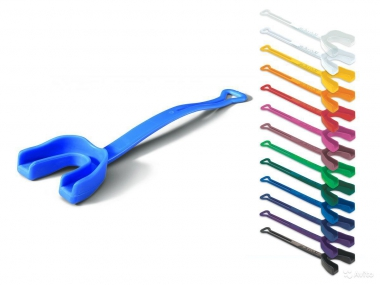Код 131017 Защитная капа для зубов с ремешком, 1 шт., синяя
