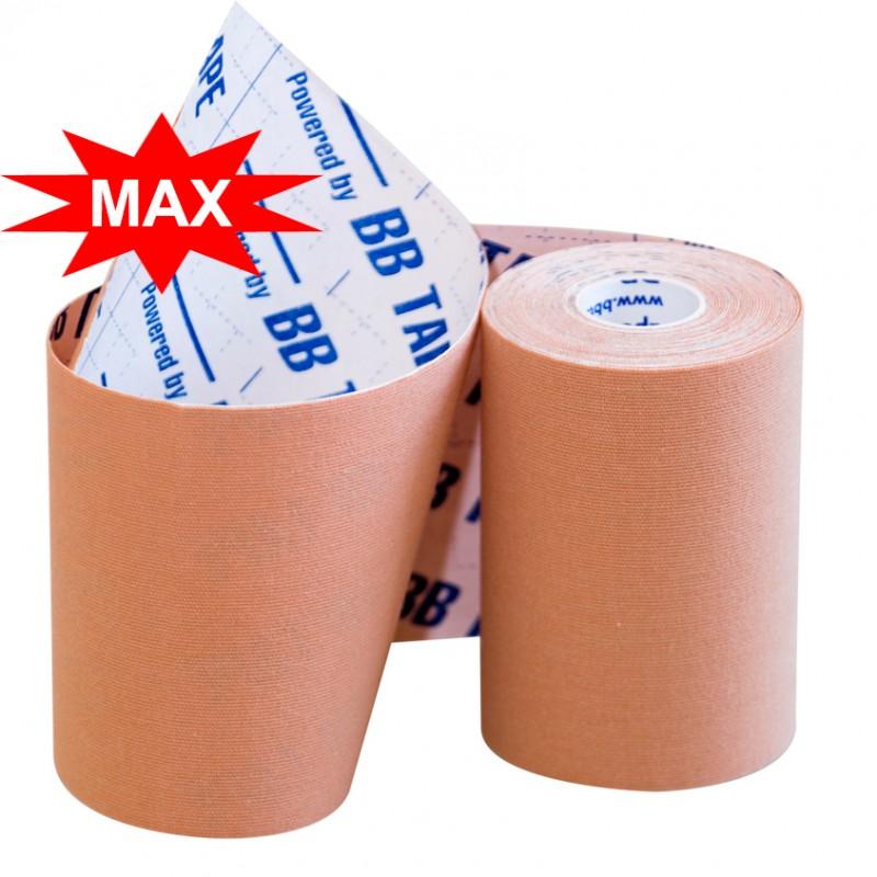 Кинезио тейп BBTape MAX с усиленным клеем  10см × 5м / Бежевый