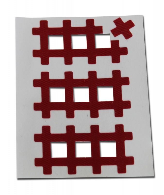 Аку тейпы BB ACU TAPE™ 1 см × 1 см / Красный