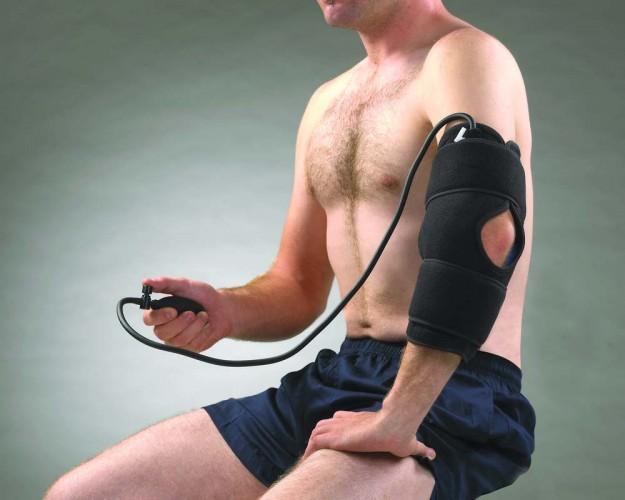 804 Охлаждающий  компрессионный бандаж на локоть ( для колена )
