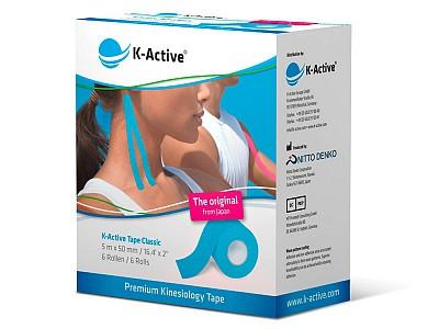 Тейп K-Active Classic 5СМ Х 5М синий
