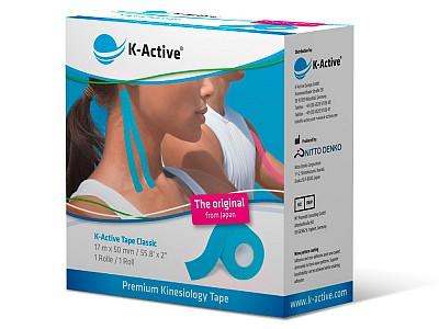 Тейп K-Active Classic 5см х 17м синий