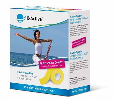 Тейп K-Active Elite 5см х 5м желтый