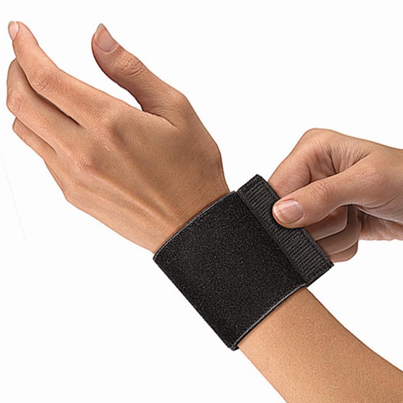 Код 961 Фиксатор запястья с ремнями, эластик, безразмерный, подходит на обе руки, 1 шт., черный