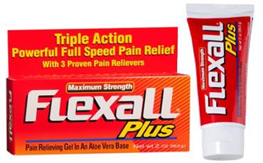 Maximum Strength Flexall Plus - 16% ментол, 10% метилсалицилат, 3,1% камфора / обезболивающий гель