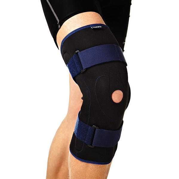 Код  RKN–202 Бандаж на колено ортопед. с метал. шарнирами, S,M,L,XL, ХХL